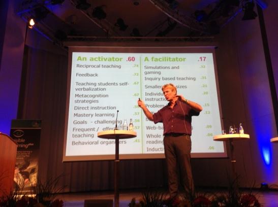 John Hattie berättar om framgångsrikt förhållningssätt hos lärare